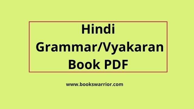 hindi grammar pdf