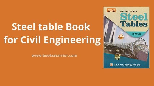steel table pdf