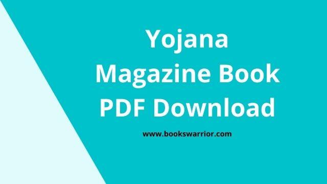 yojana magazine pdf