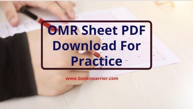 omr sheet pdf